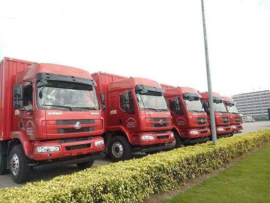 中山优骐物流公司所使用的运输车辆